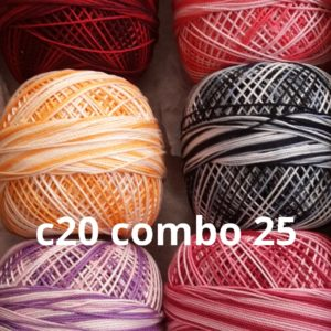 Crochet thread no. 20 combos