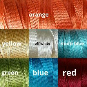 White Rose silk threads