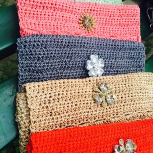 Crochet Pouches and Party Clutches