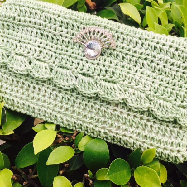 Crochet Party Clutch Pista Green The Crochet Bella