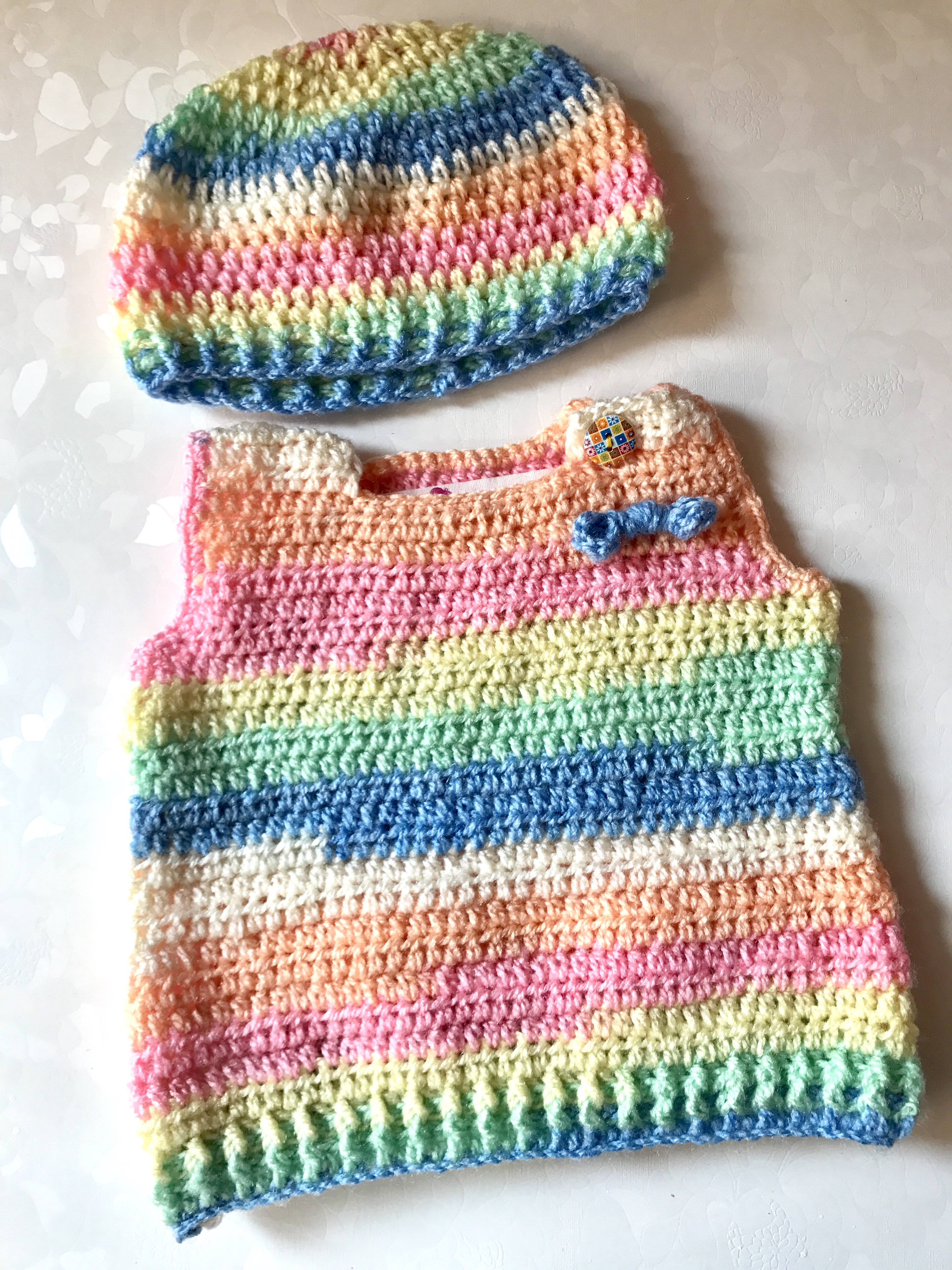 0e17a6db7 Baby Half Sweater and Cap Set - The Crochet Bella