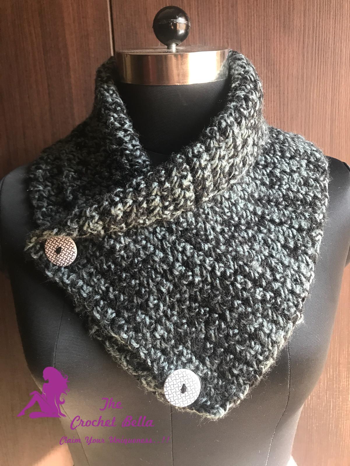 Crochet Woolen Cowl/Neck warmer - The Crochet Bella