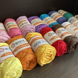 White Rose Soft Knitting Cotton (tkt 4 - equivalent to 6ply thickness)
