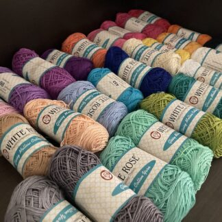 Glossy Mellow Yarn By White Rose (tkt 10- equivalent to 4ply thickness )