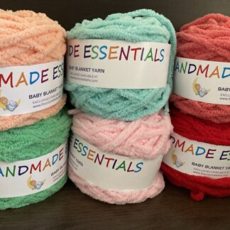 Baby Blanket Yarn/Chenille Yarn Cakes - (equivalent to 14ply thickness)