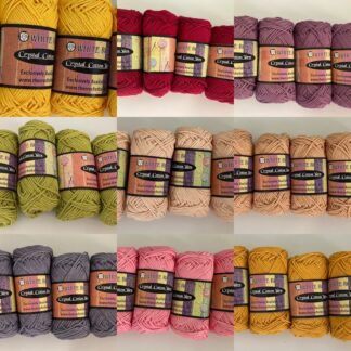 Crystal Cotton Yarn (tkt 2- equivalent to 9ply thickness)
